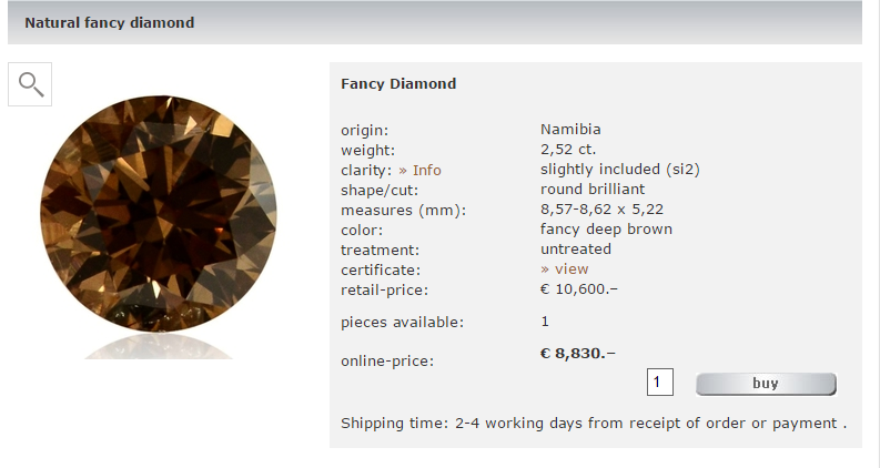 Tradition Diamant, la suite de diamantin