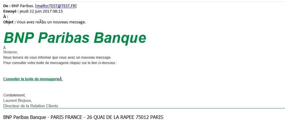 Bnp Paribas Usurpee Pour Une Attaque Au Phishing Warning Trading