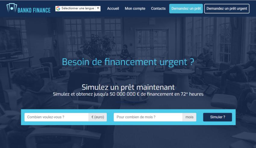 Arnaque n°887 : Bankofinancegroup.com