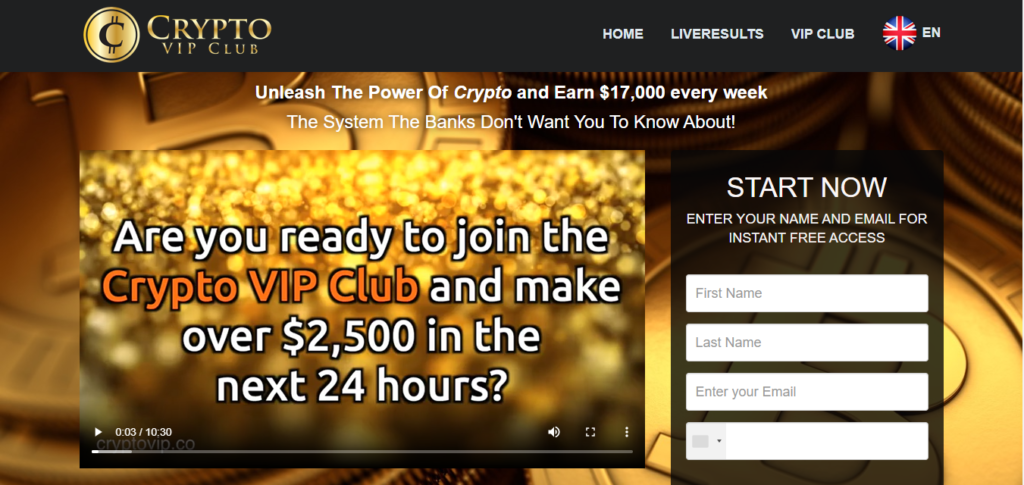 Page d'accueil Cryptovip-club.com