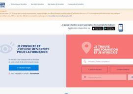 Site internet du site officiel moncompteformation.gouv.fr