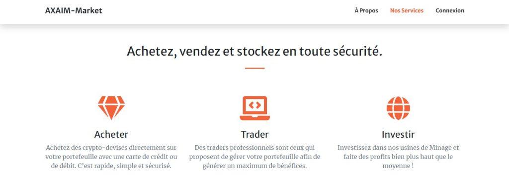 Acheter et vendre des cryptomonnaies sur Axaim-marketfx.com