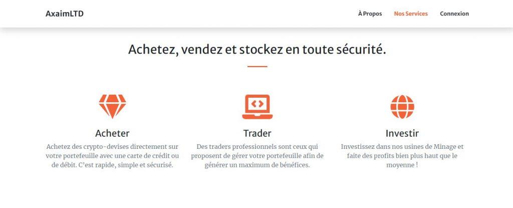 Acheter, vendre et stocker sur Axaimltd.com