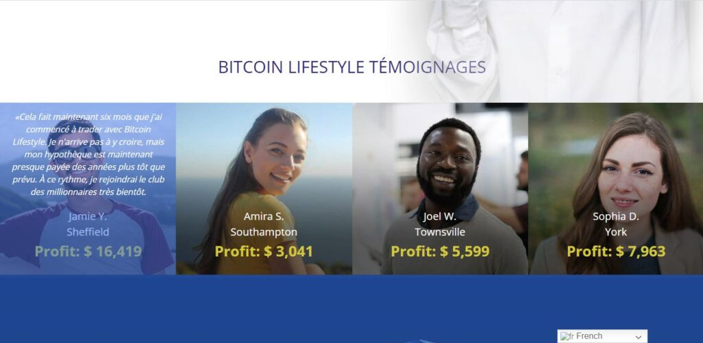 Des clients sur Bitcoinlifestyle.io/fr