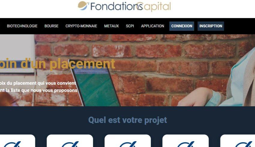 Arnaque n°959 : Fondations-capital.com