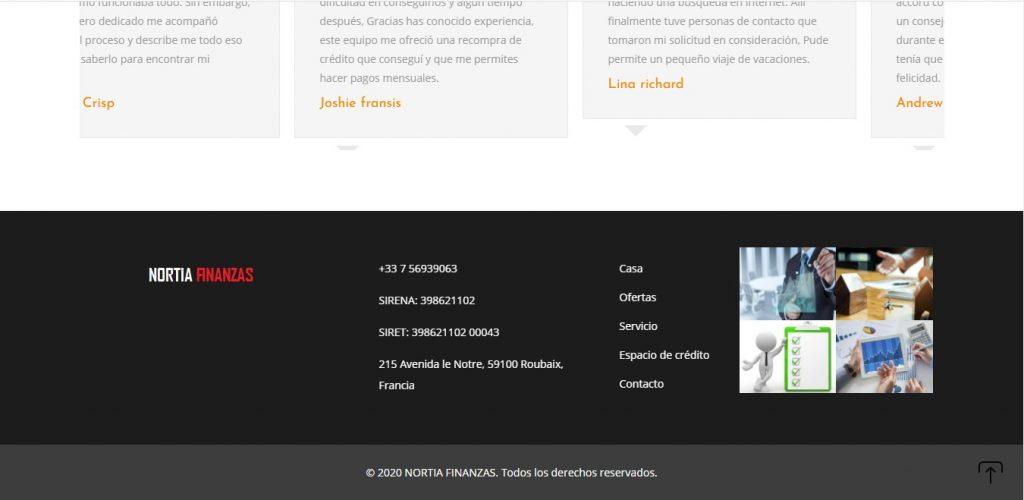 Bas de page de Norfinanzias.com