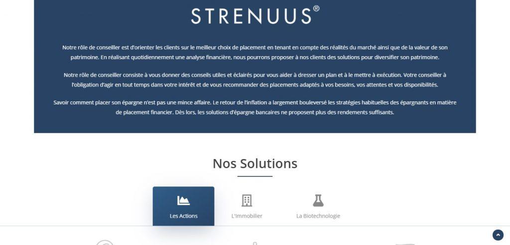 Strenuus-capital.com et Rx-securities.com, deux sites identiques