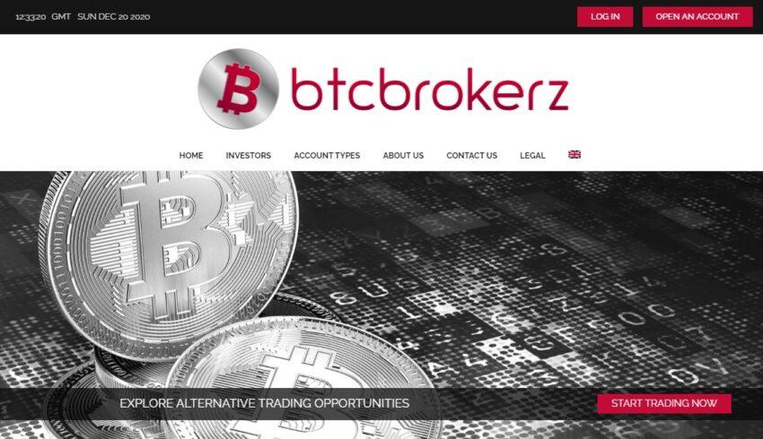 Arnaque n°996 : Btcbrokerz.com