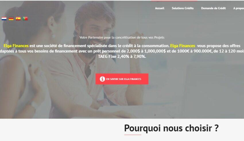 Arnaque n°1012 : Elga-finances.com