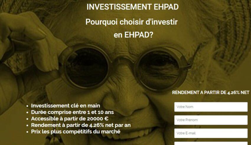 Arnaque n°993 : Investir-en-ehpad.com