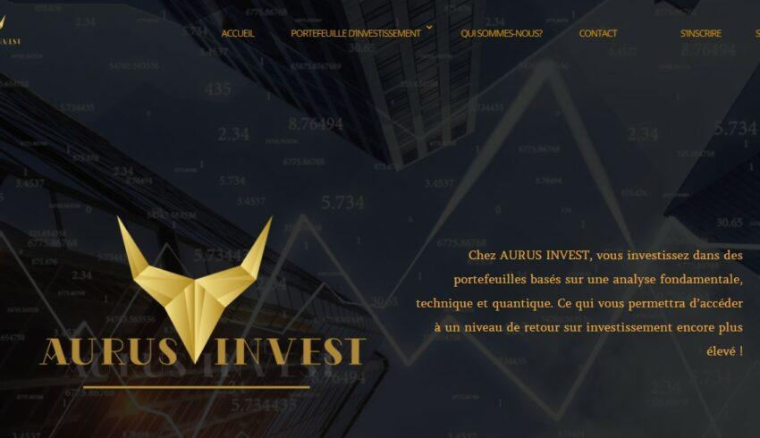 Arnaque n°1040 : Aurus-invest.com