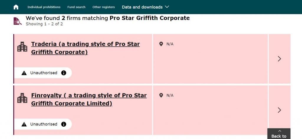 La FCA dénonce la fausse société Pro Star Griffith Corporate
