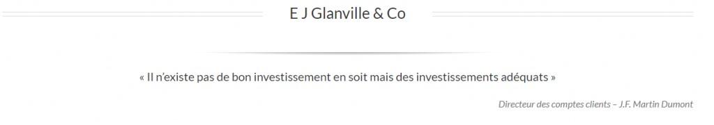 J.F Martin Dumont de Streetanalysts.com à E J Glanville & Co