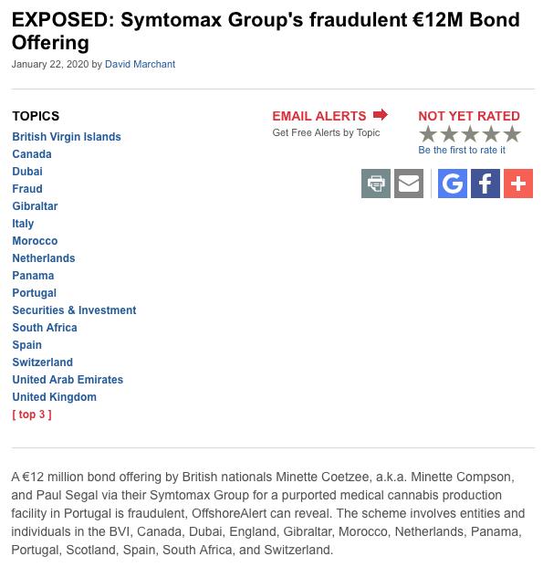 Symtomax fraude