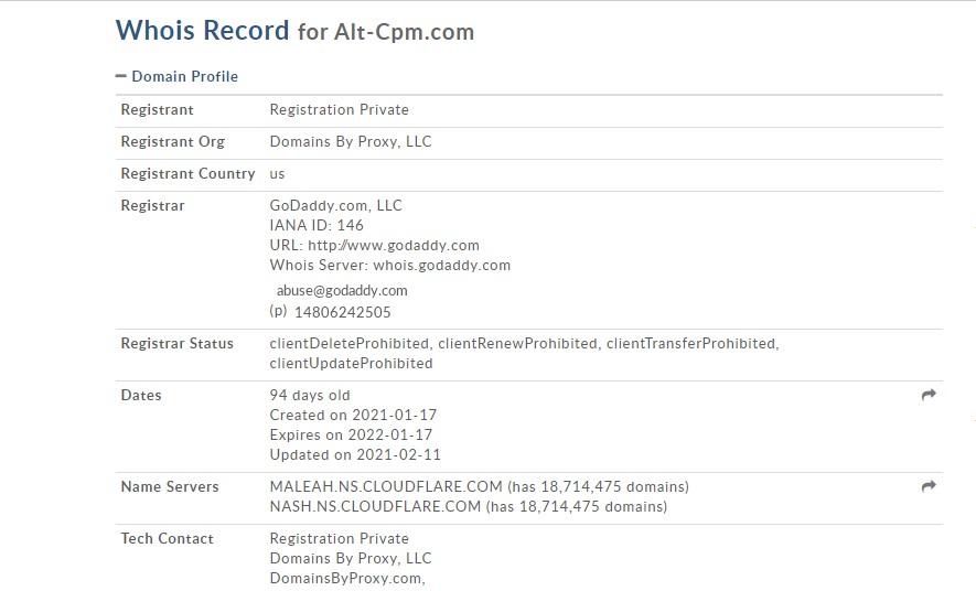 Alt-cpm.com : un site d'investissement créé par des inconnus.