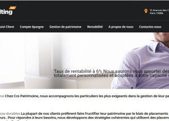 CCS-Patrimoine.com : le site qui vole l'identité d'une société allemande