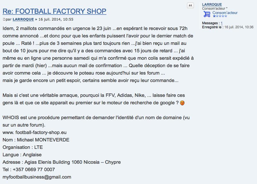 Football Factory Shop