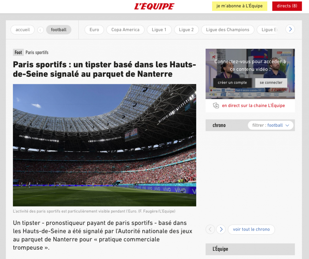 L'Equipe tipster