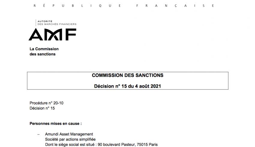 Amundi Sanction AMF