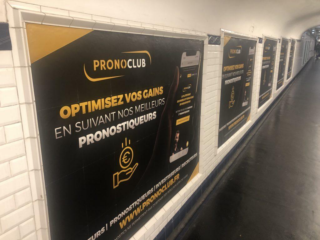 Pronoclub RATP publicité