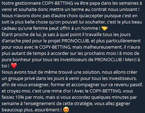 Gestionnaire copy-betting papa