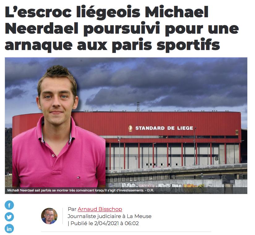Michael Neerdael arnaque