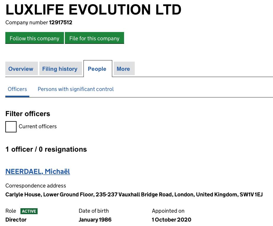 Luxlife evolution Neerdael