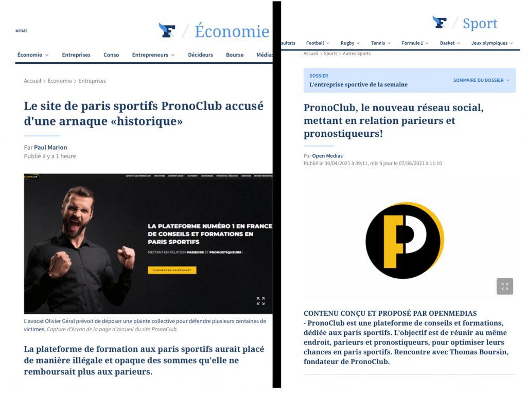 Figaro presse media Pronoclub