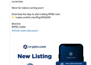 Partenaria PSG avec CRYPTO.COM